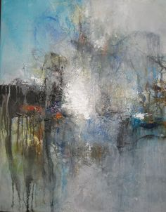 View and buy this Acrylic on Canvas Painting by Lee Anne LaForge Contemporary Landscape, Abstract Landscape, Abstract Art, Photography Illustration, Art Photography, Cracked Wall, Mixed Media Collage, Art Journal Inspiration, Sculpture Art