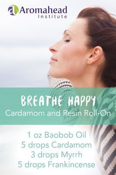 """This body oil is a wonderful way to support you through a cold, flu, or allergies. """"Breathe Happy Cardamom and Resin Roll On Body Oil"""" is made with essential oils that are very loving to skin and helpful for deep, clear breathing. When you're feeling congested roll it onto your chest, upper back, neck, arms, and anywhere you'd like to feel nourished."""