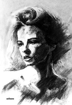 Charcoal portrait 0006 by AATheOne.deviantart.com on @DeviantArt