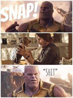17 Thanos Avengers Endgame Memes That'll Snap You Back to Life - Funny Gallery Avengers Humor, Marvel Jokes, Marvel Funny, Funny Comics, Avengers Movies, Really Funny Memes, Stupid Funny Memes, Hilarious, Memes Humor