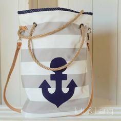 Umhängetaschen - Tasche ★ Basic ★ Streifen ★ Anker - ein Designerstück von luett-und-Lang bei DaWanda