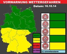 Vorwarnbericht 16.10.2014 ausgegeben am 16.10.2014 um 09:00 Uhr