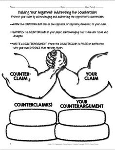 Strengthen your argument by addressing counterclaims. Argument Writing & Rubrics Common Core/PARCC Aligned for Grades Argumentative Writing, Persuasive Writing, Teaching Writing, Essay Writing, Writing Rubrics, Teaching Resources, Informational Writing, Kindergarten Writing, Writing Process