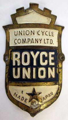 ROYCE UNION BICYCLE HEAD TUBE BADGE, JAPAN, JAPANESE | eBay