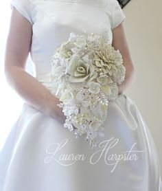 Home Page for designer Lauren Harpster's handmade French Beaded Flowers. Custom made french beaded flowers, wedding bouquets, and accessories