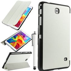 ULAK Slim Lightweight Stand Case for Samsung Galaxy Tab 4 8.0 Tablet SM-T330 with Auto Sleep Wake Function (Not fit tab 3 8.0 tablet) with Stylus and Screen Protector(White) ULAK http://www.amazon.com/dp/B00MEE593S/ref=cm_sw_r_pi_dp_f-g6tb0GCPJK6