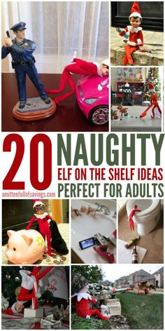 20 Naughty Elf on the Shelf Ideas for Adults
