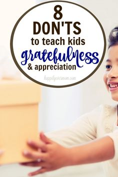 How to raise grateful kids ~ these are such great reminders of what we DON'T need to be doing and and little tips to remember when raising kids who are grateful. #ad