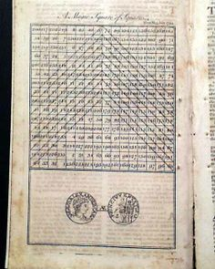 """Ben Franklin's """"A Magic Square of Squares"""" THE GENTLEMAN'S MAGAZINE, London, July, 1768 Magic Squares, Benjamin Franklin, Magazine, London, History, Math, Space, Squares, Floor Space"""