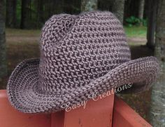 Cowboy hats of all sizes from toddler to adult... Crochet pattern on Ravelry