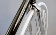 chrome fork/Domenica Sport  The start of the Tour de France tomorrow in Rotterdam – The Netherlands is a good occasion to talk about bicycles again.    Based in New York City designer Francesco Bertelli makes wonderful pure, clean, old-fashion bicycles (track bikes and fixed gear only). Every single part is assembled by hand, finished and fine-tuned by Bertelli himself.