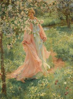 Herbert Arnould Olivier R., British artist, was born 9 September 1861 died 2 March England. He was a London based portrait and landscape painter who studied at the Royal Academy Schools. Angel Aesthetic, Aesthetic Art, Images Esthétiques, Bel Art, Illustration Art, Illustrations, Classical Art, Fine Art, Renaissance Art