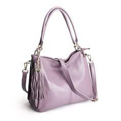 Shoulder Handbag with Tassel
