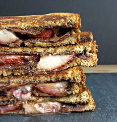 bacon, strawberry and dark chocolate panini.  this would be excellent with homemde cinnamon cocoa hemp heart butter!!