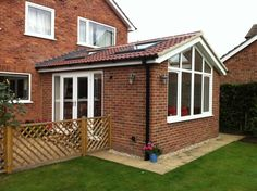 Garden room garage RGS Joinery And Building House Extension Plans, House Extension Design, Rear Extension, Extension Designs, Extension Ideas, Extension Google, Conservatory Dining Room, Modern Conservatory, Conservatory Roof