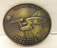 Vintage 1976 Star Trek Brass Metal Belt Buckle  by lynncompany, $34.99