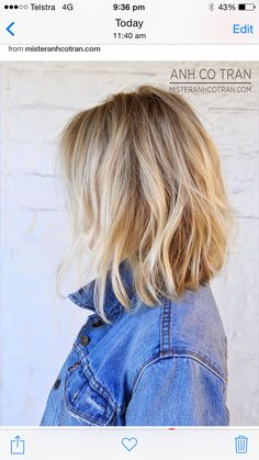 The pic I showed the hairdresser ;) long bob. Wavy