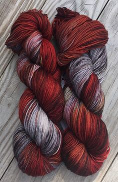 Hot Mess Hand Dyed Superwash Merino and Nylon by BlackCatFibersLLC