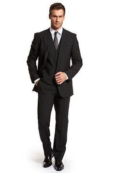 "#engagementparty Hugo Boss Modern Fit Two Button ""The James Sharp"" Suit. $567. Dapper Duds. @HUGO BOSS"