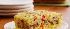 Cheesy Sausage Egg Bake - Not just for breakfast! Try it for brunch, book club or supper too because you can make it up to 12 hours ahead of time. Breakfast Casserole Easy, What's For Breakfast, Breakfast Dishes, Breakfast Recipes, Egg Casserole, Brunch Casserole, Mexican Breakfast, Breakfast Sandwiches, Breakfast Pizza
