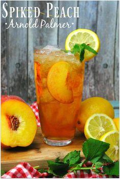 Peach Vodka Drinks, Peach Rum, Iced Tea Cocktails, Peach Ice Tea, Cocktail Drinks, Cocktail Recipes, Sweet Cocktails, Summer Cocktails, Peach Whiskey