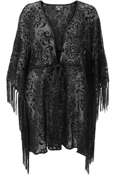 Killstar Plus Size Bloodlust KaftanMust have Summer accessory from Killstar! The stunning Bloodlust kaftan is the perfect cover-up and features a statement pentagram print in flock velvet. Parkway Drive, Rock And Roll, Streetwear, Killstar Clothing, Hippie Goth, Black Wings, Punk, Plus Size Shopping, Longsleeve