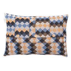 Commedia Dell'arte Blue Cushion Cover