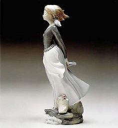 Lladro Wind Blown Girl # #Art The Collection Shop is an Authorized Lladro Retired Dealer. Please note that inventory and prices change frequently due to supply and demand. Delivery time may take as long as 3 to 6 weeks weeks on some items. A Collection Shop representative will contact you to confirm your order along with price and delivery time. Wind Blown Girl