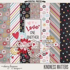Free Kindness Matters Mini Kit from Sherry Ferguson {February 2017 DigiScrap Parade}