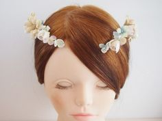 [和紙]14aw01ガーベラと小花のヘッドドレス - natica