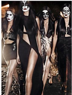 Kiss Masked Models  make-up by Anthony Vaccarello