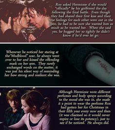 Ron and Hermione headcanons