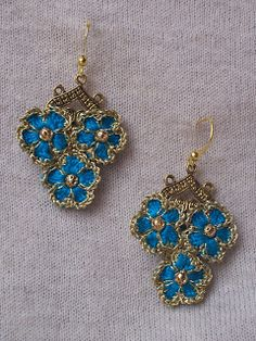 "Outstanding Crochet: Crochet Earrings ""Forget-me-not"""