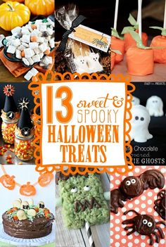 13 Easy Halloween Treats & Snacks - Yellow Bliss Road by GinkyDoodles