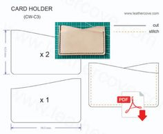 Slim Card Holder Pattern – PDF