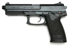The HK Mark 23 Caliber ACP pistol gives shooters match grade accuracy equal to that of the finest custom made handguns Survival Weapons, Survival Life, Rifles, Best Concealed Carry, Big Boyz, Heckler & Koch, 45 Acp, Tactical Vest, Revolver
