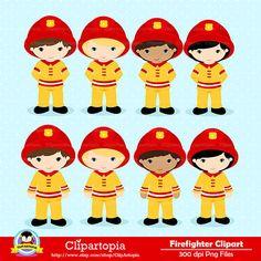FIREFIGHTER Digital Clipart Fireman boys Clip art by ClipArtopia