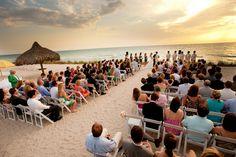 Sunset weddings on Gasparilla Island, Florida.