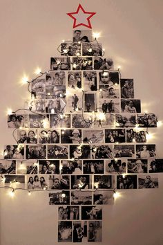 58 ideas for diy christmas tree decorating ideas navidad Wall Christmas Tree, Unique Christmas Trees, Alternative Christmas Tree, Noel Christmas, Christmas Ornaments, Xmas Trees, Christmas 2019, Christmas Christmas, Christmas Lights