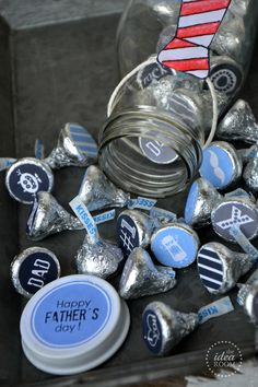 The Idea Room: Father's Day Kiss Stickers