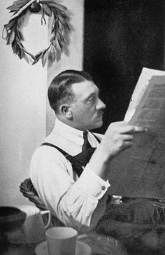 Hitler in prison.  He served nine months in the early 1920s for trying to overthrow the government.