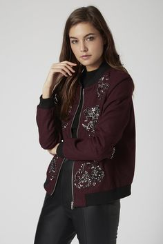 **Wool Bomber Jacket by Goldie - New In This Week - New In - Topshop Europe