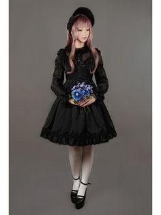 Neverland Lolita ~Fantasy Dream~ Chiffon Long Sleeves Lolita OP Dress
