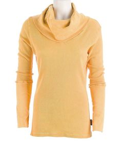 Another great find on #zulily! Goldenrod Vintage Cowl Neck Sweater by Ojai Clothing #zulilyfinds