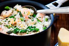 Jasmine risotto with prawns recipe, Viva – visit Eat Well for New Zealand recipes using local ingredients - Eat Well (formerly Bite) Prawn Recipes, Risotto Recipes, Tea Recipes, Potato Recipes, Prawn Dishes, Spiced Cauliflower, Aloo Gobi, Feeding A Crowd, Plant Based Recipes