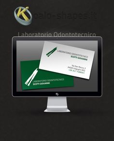 Laboratorio Odontotecnico Scotti Giovanni #business #card by Koalo Shapes --- Laboratorio Odontotecnico Scotti Giovanni is a prosthodontist lab.