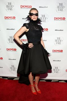 CEO Carina Ortel looking glamorous on the red carpet at the #BloodBall.  Photo Credit: Monica Schipper