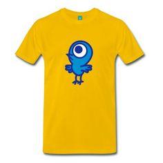 koszulka  Jednooki mały ptak od Cheerful Madness!!   Spreadshirt   ID: 26356636 #ptak #koszulki #cheerfulmadness #spreadshirt #polska