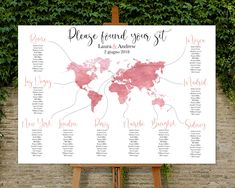 Travel Theme Wedding Watercolor Table Plan - Travel World ma.- Travel Theme Wedding Watercolor Table Plan – Travel World map – Personalized Printable – Please found your sit - Water Color World Map, World Of Color, Our Wedding, Destination Wedding, Dream Wedding, Wedding Guest Dresses Australia, Tableau Marriage, Wedding Schedule, Seating Chart Wedding