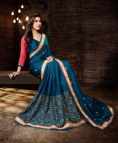 Indian Pakistani Designer Traditional Saree Party Wear Bollywood Sari blouse…